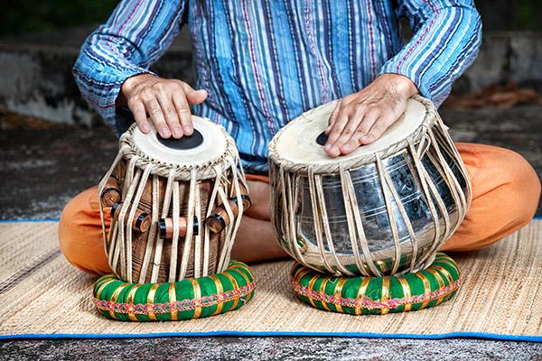 Ayurveda muziek: tabla - muziektherapie